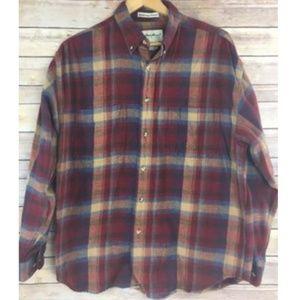 Eddie Bauer Bainbridge Flannel Shirt Cotton Plaid